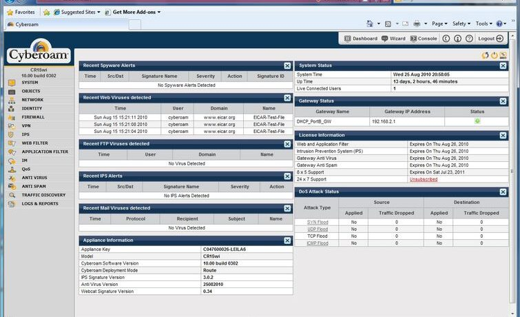 Cyberoam-CR15wi-Software-Screen-Shot-1